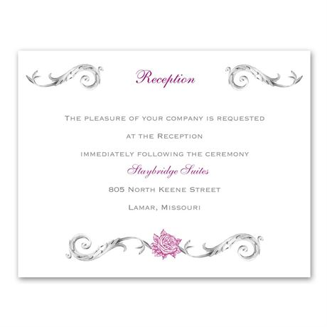 Fairy Tale Roses - Reception Card