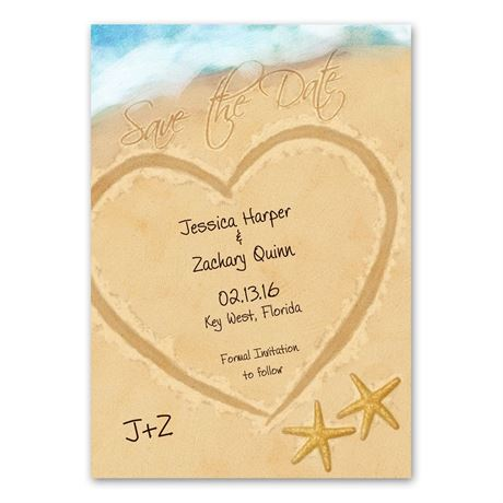 Just Beachy - Save the Date Card