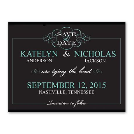 Flourishing Typography - Save the Date Card