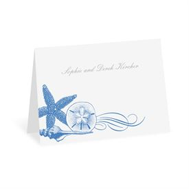 Starfish and Seashells - Ocean - Thank You Note