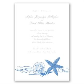 Starfish and Seashells - Ocean - Invitation