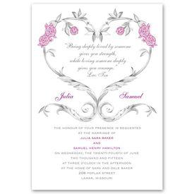 Floral Wedding Invitations: Fairy Tale Roses  Invitation