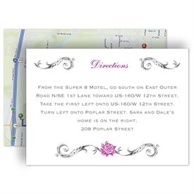 Wedding Map Cards: Fairy Tale Roses  Map Card