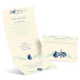 Perfect Waves - Ecru - Seal and Send Invitation