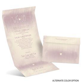 Loving Vows - Ecru - Seal and Send Invitation