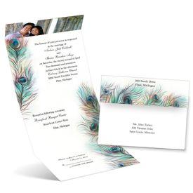 Photo Wedding Invitations: Feather Frill  Seal and Send Invitation
