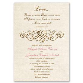 Rustic Wedding Invitations: Rustic Love  Invitation