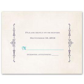 Wedding Response Cards: Charmed  Response Card