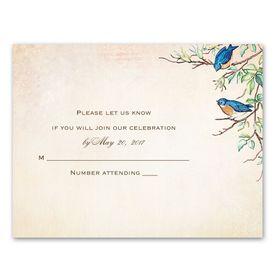Wedding Response Cards: Bluebird Melody  Response Card
