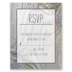 Wedding Response Cards: Tree Rings  Response Card
