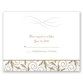 Wedding Response Cards: Filigree Leaves  Response Card