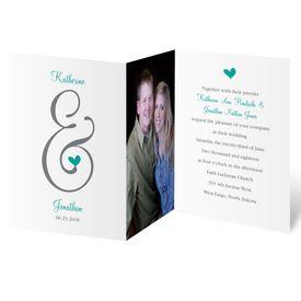 Photo Wedding Invitations: Perched Heart  Photo Invitation