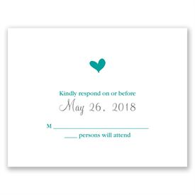 Wedding Response Cards: Perched Heart  Response Card