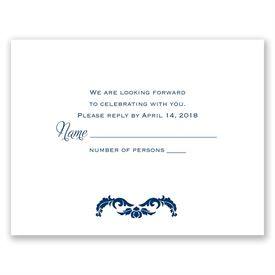 Wedding Response Cards: Flourish Crest  Response Card