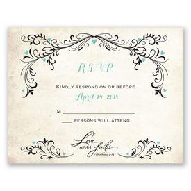 Wedding Response Cards: Blossoming Love  Response Card