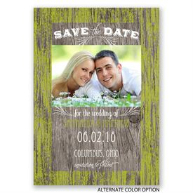 Rustic Charm - Save the Date Card