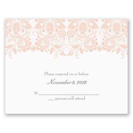 Wedding Response Cards: Lacy Romance  Response Card