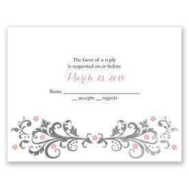 Wedding Response Cards: Flowers and Filigree  Response Card