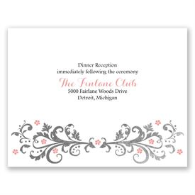 Wedding Reception Cards: Flowers and Filigree  Reception Card