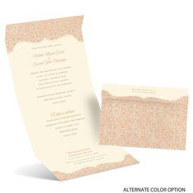 Antique Remnants - Ecru - Seal and Send Invitation