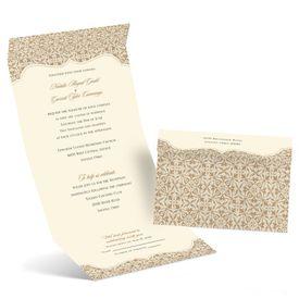 Elegant Wedding Invitations: Antique Remnants Seal and Send Invitation