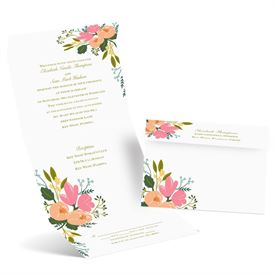 Painted Petals - Seal and Send Invitation