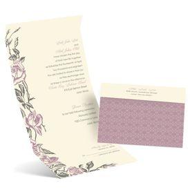 Elegant Wedding Invitations: Rose Impression Seal and Send Invitation