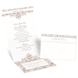 Victorian Romance - Seal and Send Invitation