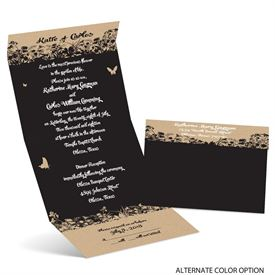 Butterfly Silhouettes - Seal and Send Invitation