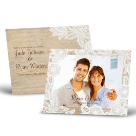 Photo Save the Date Cards: Vintage Country  Save the Date Postcard