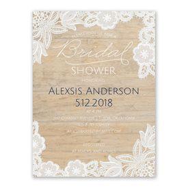 Cheap Bridal Shower Invitations: Vintage Country Bridal Shower Invitation