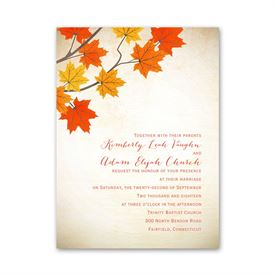 Wedding Invitations: Maple Treasures  Petite Invitation