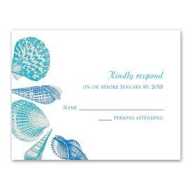 Wedding Response Cards: Sea Love  Response Card