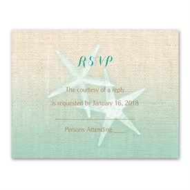 Wedding Response Cards: Starfish and Burlap  Response Card