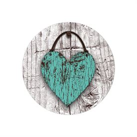 Wood Heart Envelope Seal