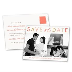 Modern Save The Dates: Bright and Beautiful  Save the Date Postcard