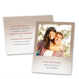 Save the Date Postcards: All Natural  Save the Date Postcard