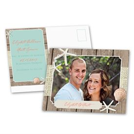 Photo Save the Date Cards: Beach Retreat  Save the Date Postcard