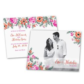 Save the Dates: Watercolor Floral  Save the Date Postcard