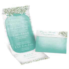 "Baby""s Breath  Seal and Send Invitation"