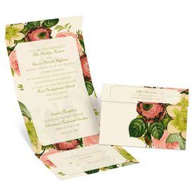 Botanical Beauty - Ecru - Seal and Send Invitation