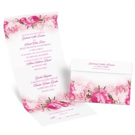 Blushing Blooms - Seal and Send Invitation