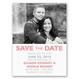 Modern Save The Dates: Clearly You  Save the Date Card