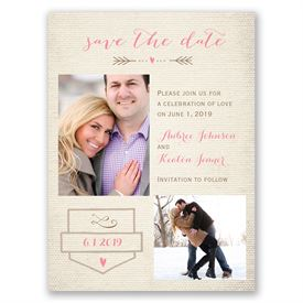 Save the Dates: Sweet Linen  Save the Date Card