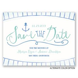Watercolor Nautical - Save the Date Card