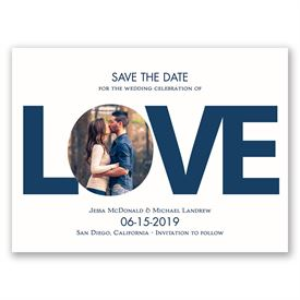Modern Save The Dates: LOVE  Save the Date Card