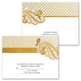 Antique Treasure - Invitation with Free Respond Postcard
