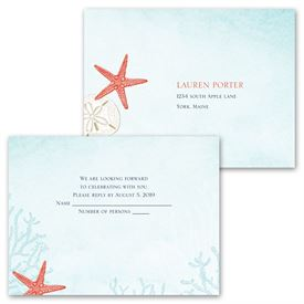 Ocean Adventure - Invitation with Free Respond Postcard