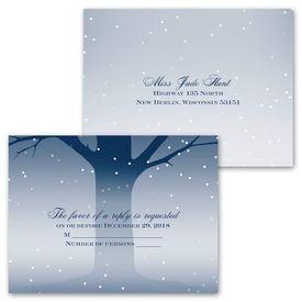 Romantic Lighting - Invitation with Free Respond Postcard