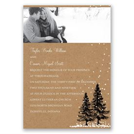 Let It Snow Invitation with Free Respond Postcard